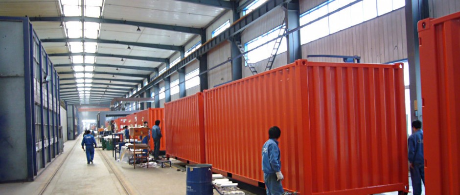 New shipping containers facilities